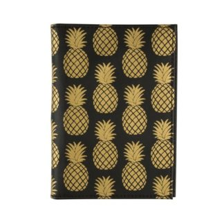 Etui na paszport i karty Gold Pineapple